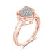 1/7 Carat T.W. Genuine White Diamond Heart Ring in 14K Rose Gold