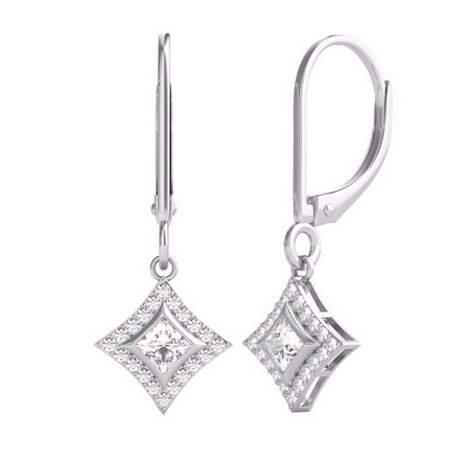 STARRA™ 1/4 CT. TW. DIAMOND 10K GOLD DROP EARRINGS