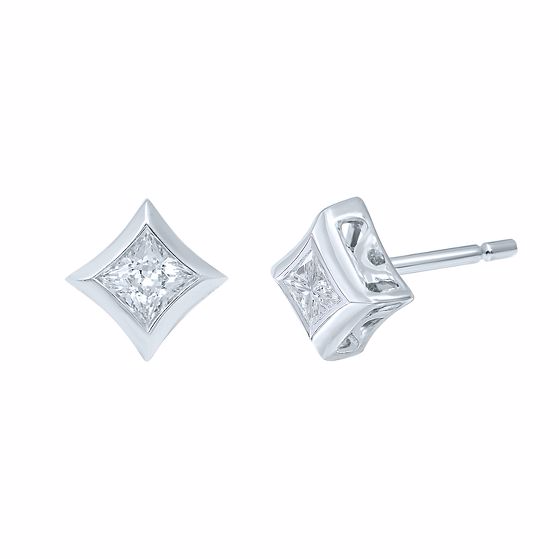 STARRA™ 1/10 CT. TW. DIAMOND STUD EARRINGS