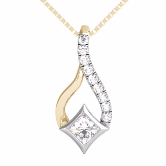 STARRA™ 1/7 CT. TW. DIAMOND PENDANT