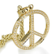 Yellow Gold Peace Pendant