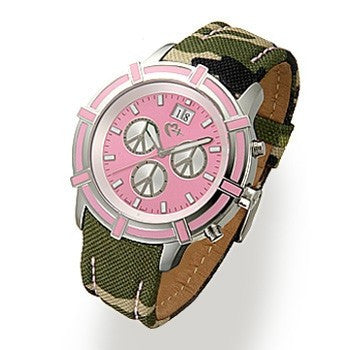 Pink and Camouflage Watch