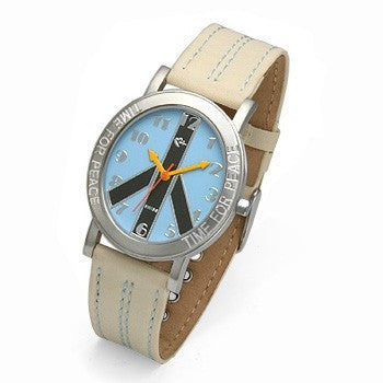 Blue Face and Cream Strap watch