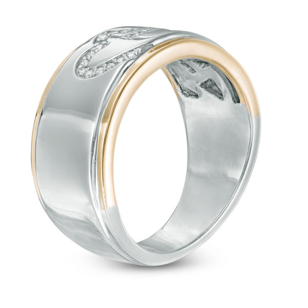 1/8 CT. T.W. Diamond Anniversary Band in 14K Two-Tone Gold