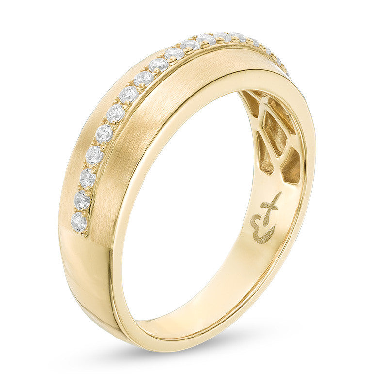1/3 CT. T.W. Diamond Wedding Band in 14K Gold