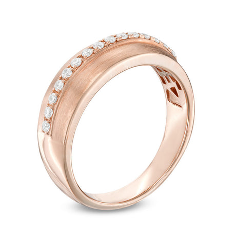 1/5 CT. T.W. Diamond Wedding Band in 14K Rose Gold