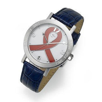 "Red And Blue ""Time For Hope"" Watch"