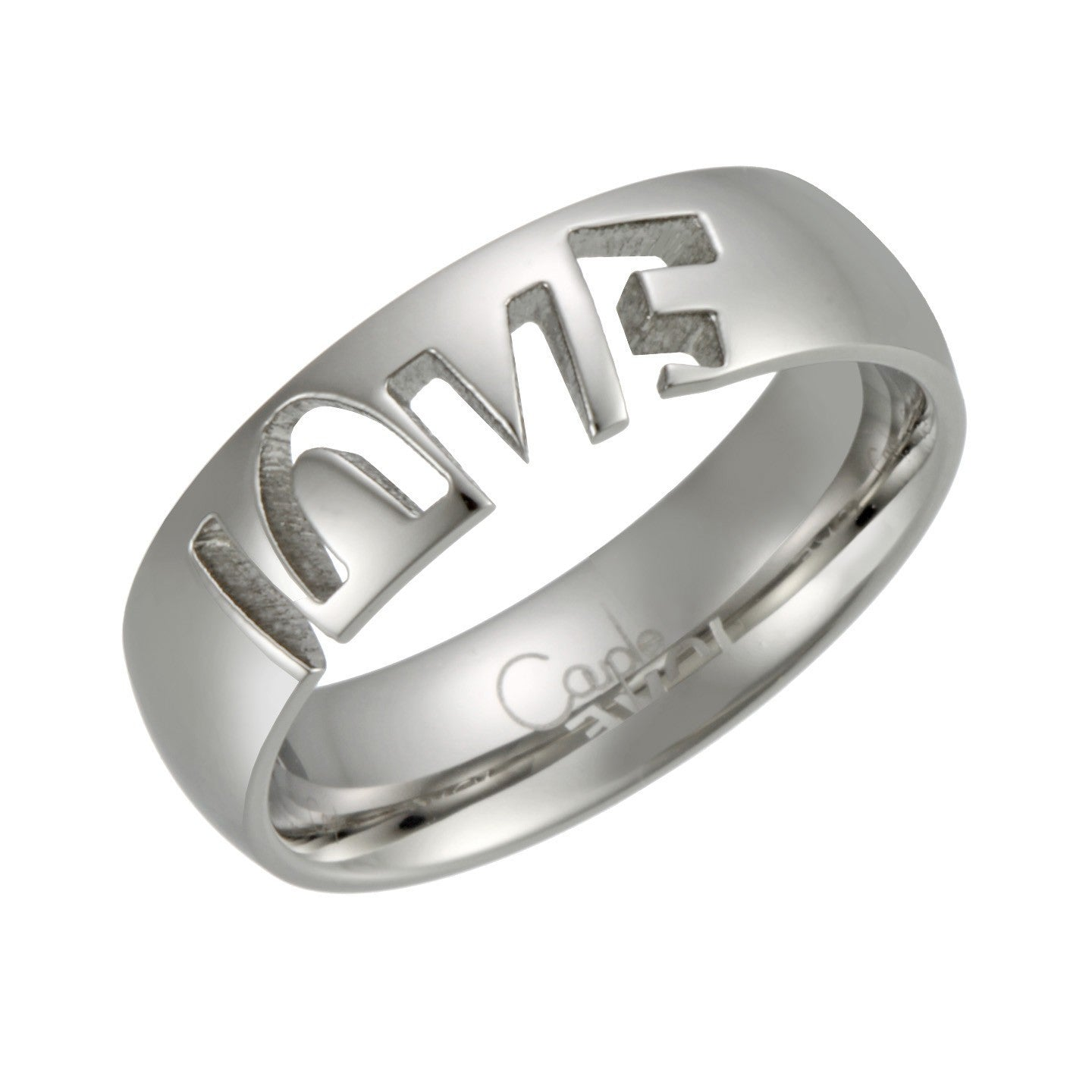 stainless steel love ring love and pride