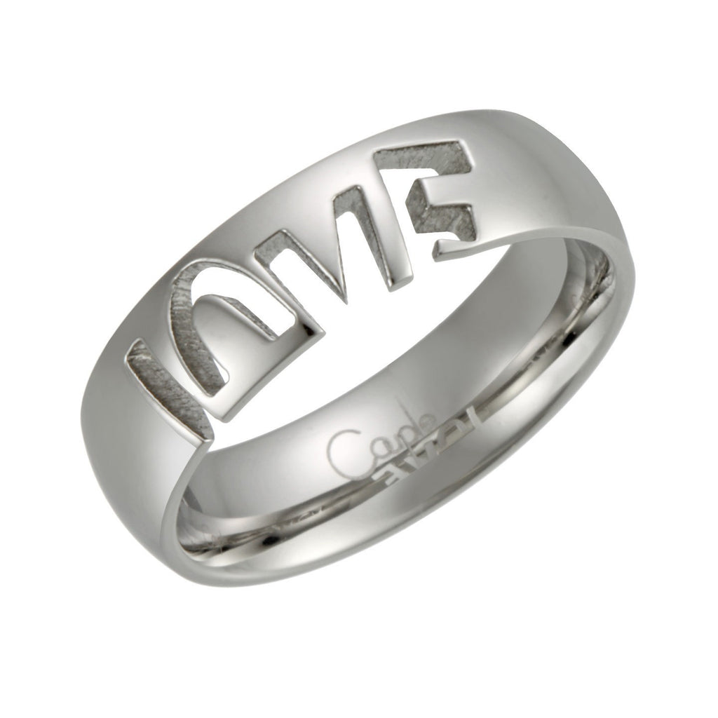 Stainless Steel LOVE Ring