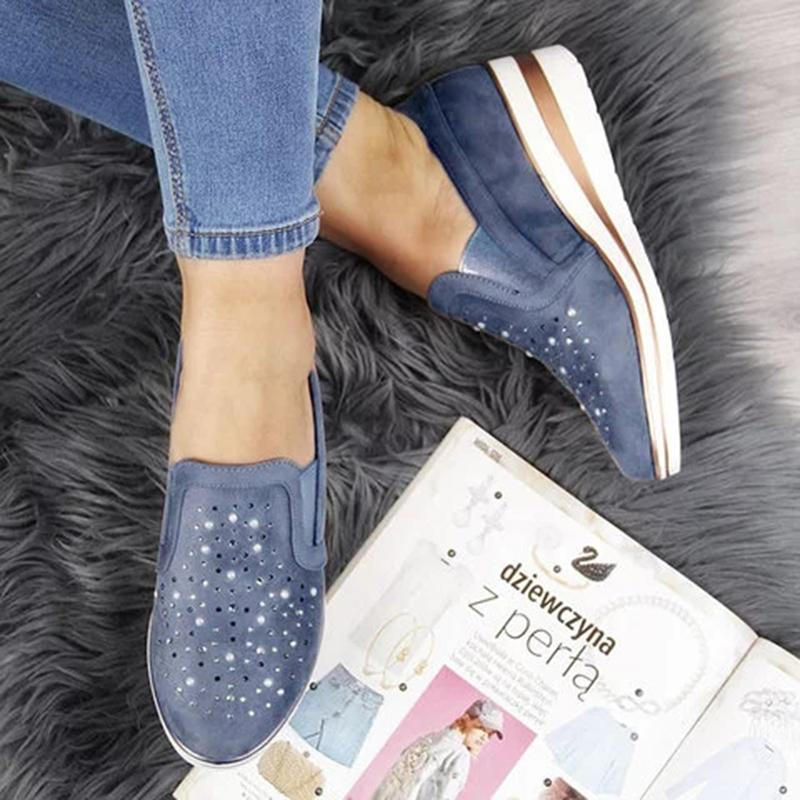 (🔥Last Day Promotion 50% OFF🔥)Women Shining Casual Slip-on Sneaker Shoes