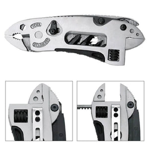Multi-tool pliers jaw screwdriver survival tool adjustable wrench