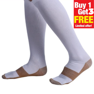 CopperMed Anti-Fatigue Compression Socks | BUY 1 GET 3 PAIRS FREE(4-PACK)