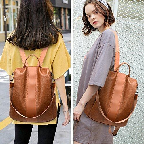 LuckyLife Fashinable Leather Tote Casual Backpack ?50% OFF?