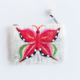 White And Light Grey Butterfly Wallet