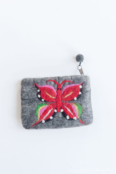 Grey Butterfly Wallet
