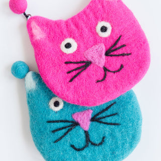Pink Cat Coin Purse