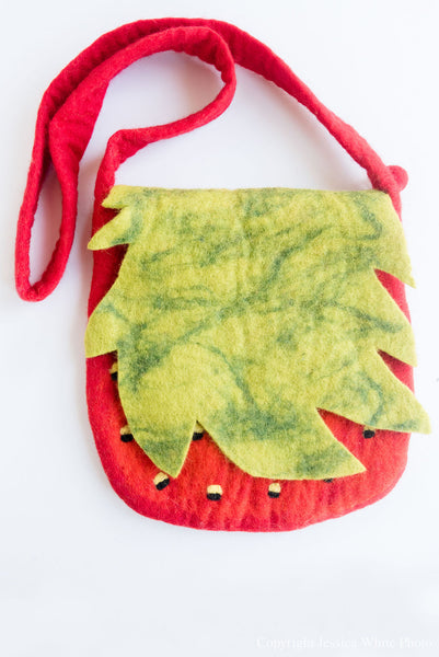 Large Strawberry Purse