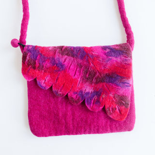 Fuchsia Leaf Bag