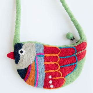 Green Bird Purse
