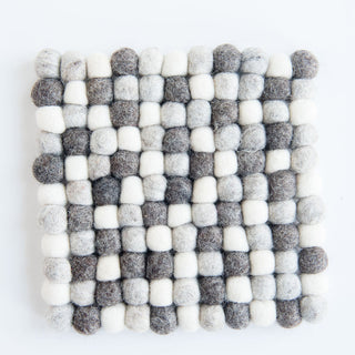 Grey On Grey On Grey Square Trivet