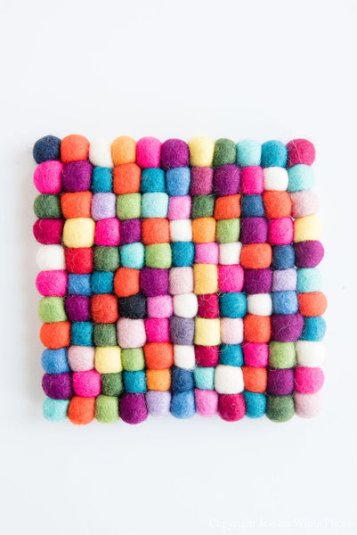 Colorful Square Trivet
