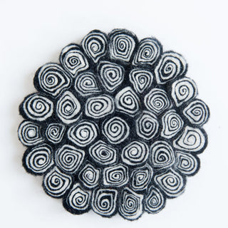 Black And White Swirl Trivet