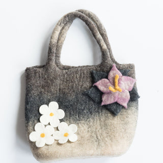 Gray Flower Bag