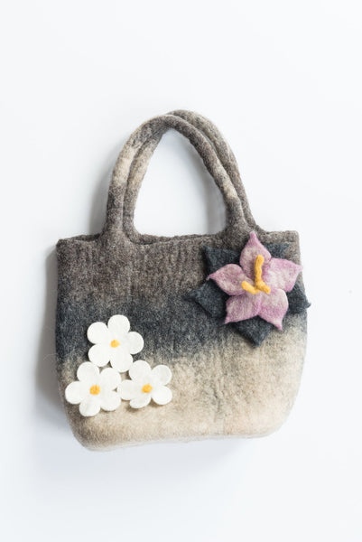 Grey Flower Bag