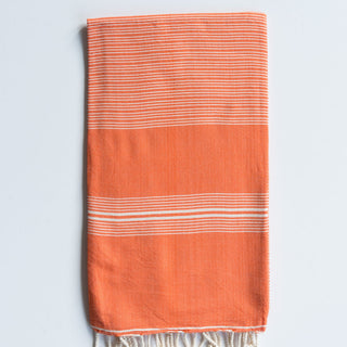 Orange Thin Stripe Turkish Twel