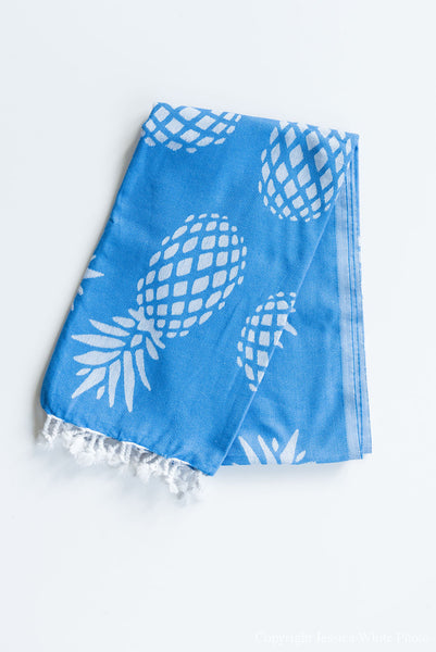 Blue Pineapple Turkish Towel