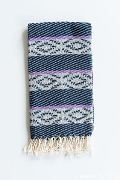 Navy Aztec Turkish Towel