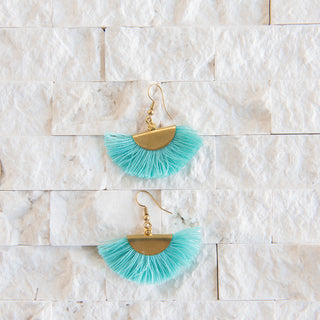 Small Half Moon Fringe Earrings