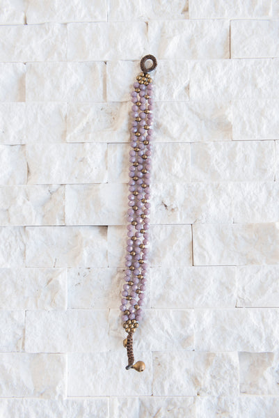 Purple Beaded Bracelet