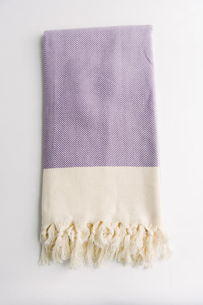 Purple Chevron Turkish Towel
