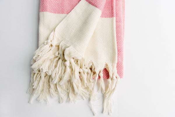 Pink Diamond Turkish Towel