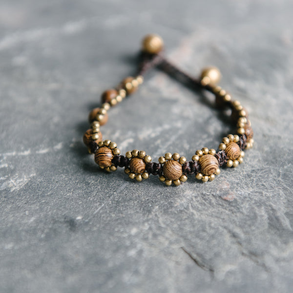 Wax Cord Tiger Eye Braclet