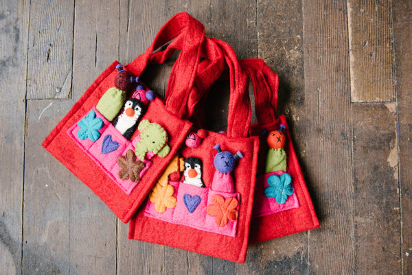 Red Finger Puppet Bag