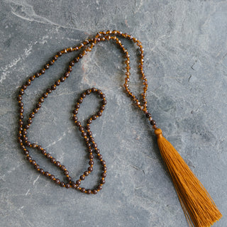 Brown Tassel Necklace