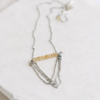Silver And Citrine Necklace