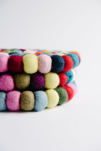 Colorful Felt Trivet