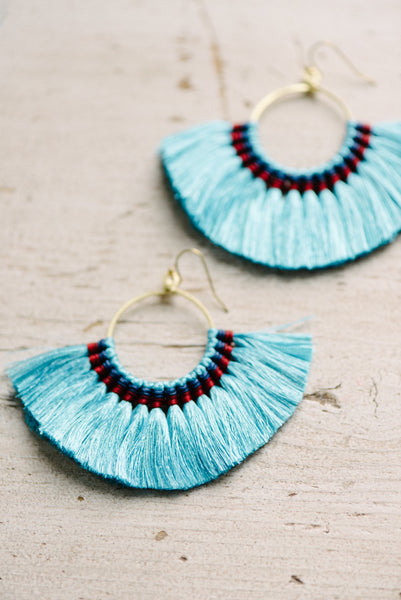Blue Fring Earrings