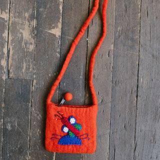 Orange Butterfly Bag