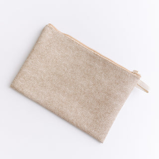 Beige Herringbone Bag