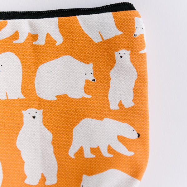Orange Polar Bear Bag