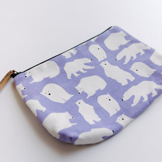 Purple Polar Bear Bag