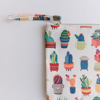 Large Succulent Cosmetic Bag