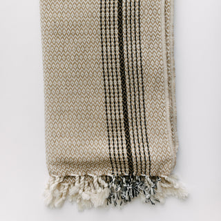 Beige And Black Turkish Towel