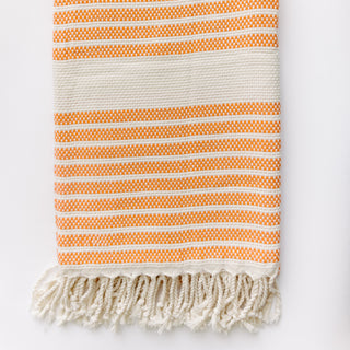 Orange And White Turkish Towel