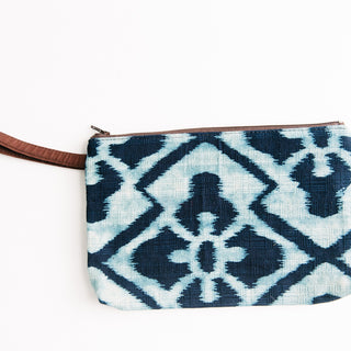 Blue and White Floral Bag