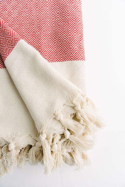 Red Diamond Turkish Towel